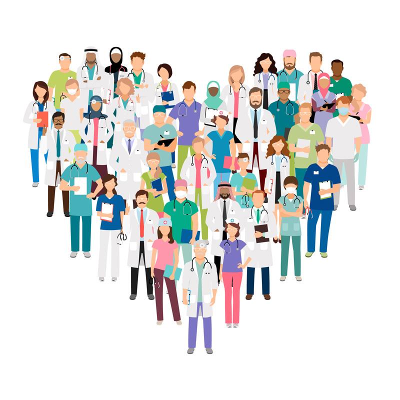 Cercles d'Empathie et de Partage avec des soignants en coeur