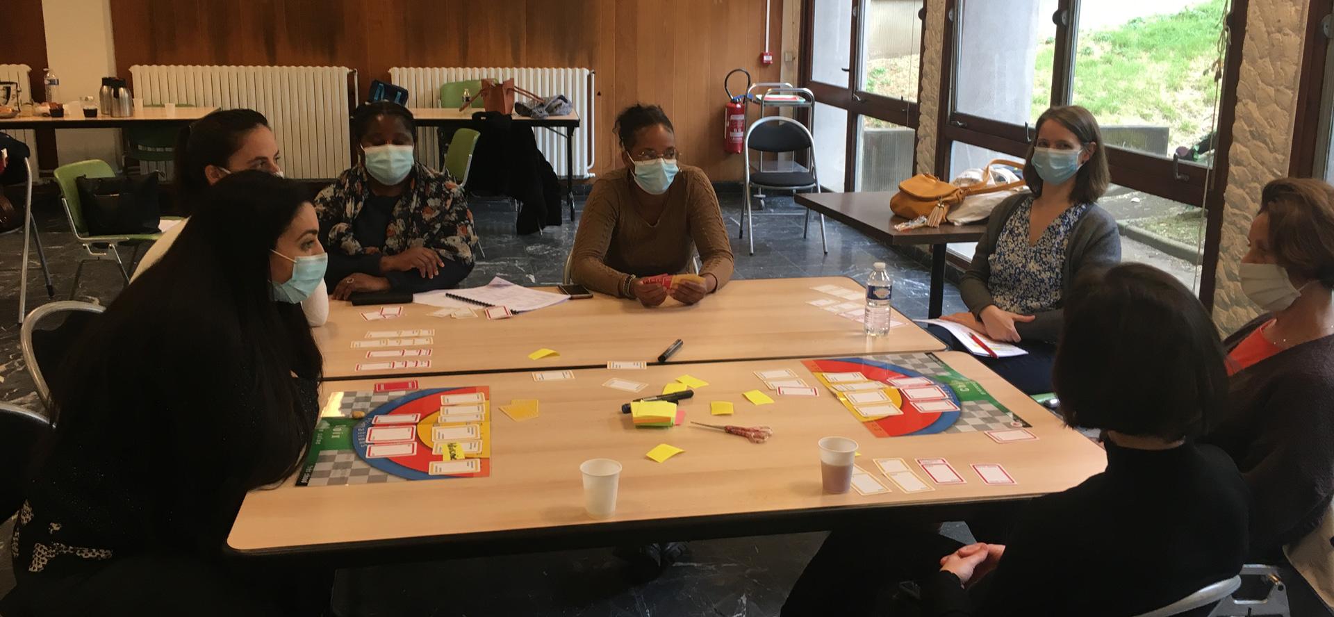 Groupe de pratique avec des soignants formés à la CNV