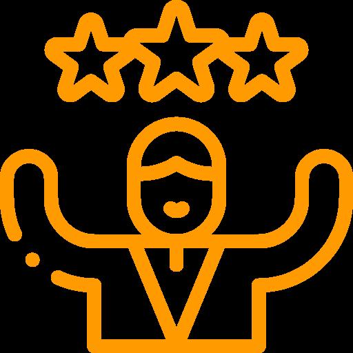 Pouvoir Action Assertivité - icone orange